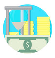time and money icon vector image