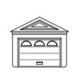garage door house vector image