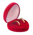 two wedding golden rings vector image