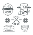 Set of vintage classic car services labels vector image vector image
