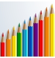 Infographic rainbow color pencils with realistic vector image