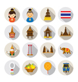Thailand Flat Icons Set vector image