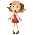 Little girl with open brain vector image