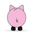 cute back of pig vector image