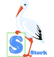 English alphabet the letter S vector image