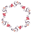 Floral wreath Flower border frame vector image