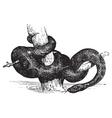 Green Anaconda vintage engraving vector image
