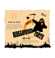 Halloween party poster with message vector image