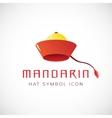 Mandarin Hat Concept Symbol Icon vector image