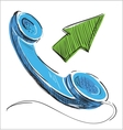 Phone outcoming call vector image