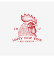 red rooster year vector image