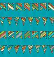 Seamless pattern of doodles garlands vector image