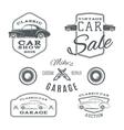 Set of vintage classic car services labels vector image