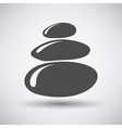 Stack of Spa Stones Icon vector image