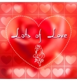 with floral doodle heart vector image