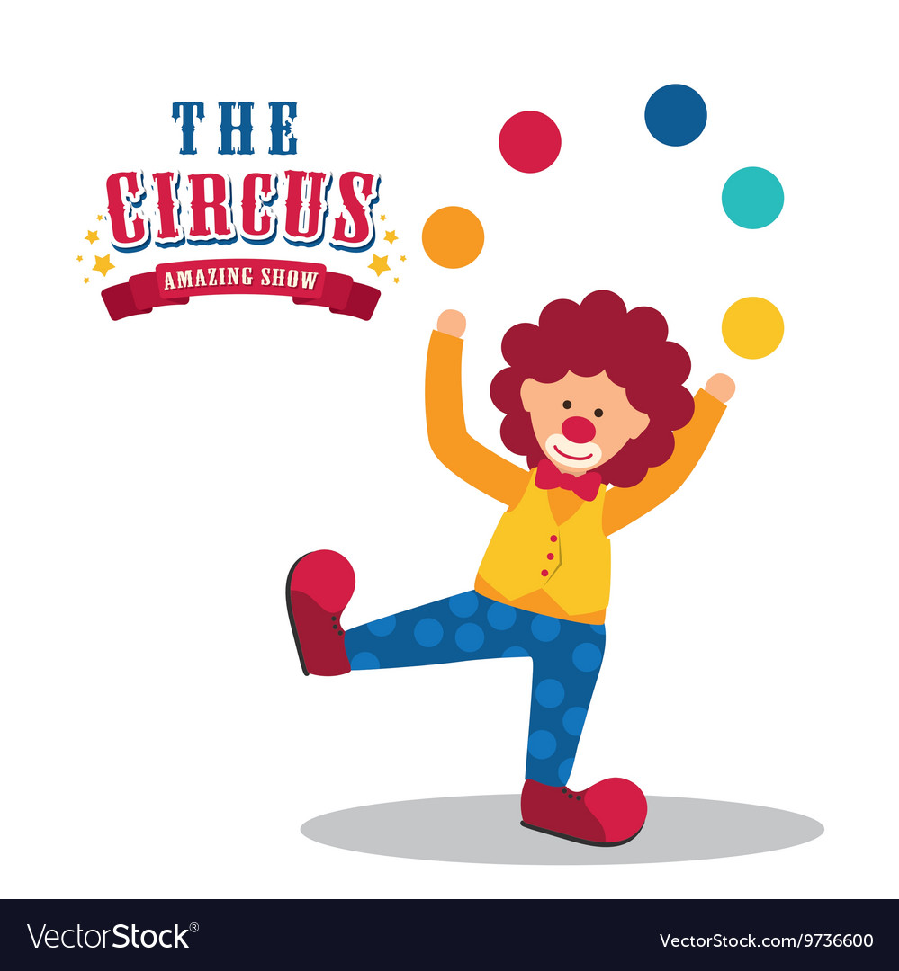 Clown icon circus and carnival design vector