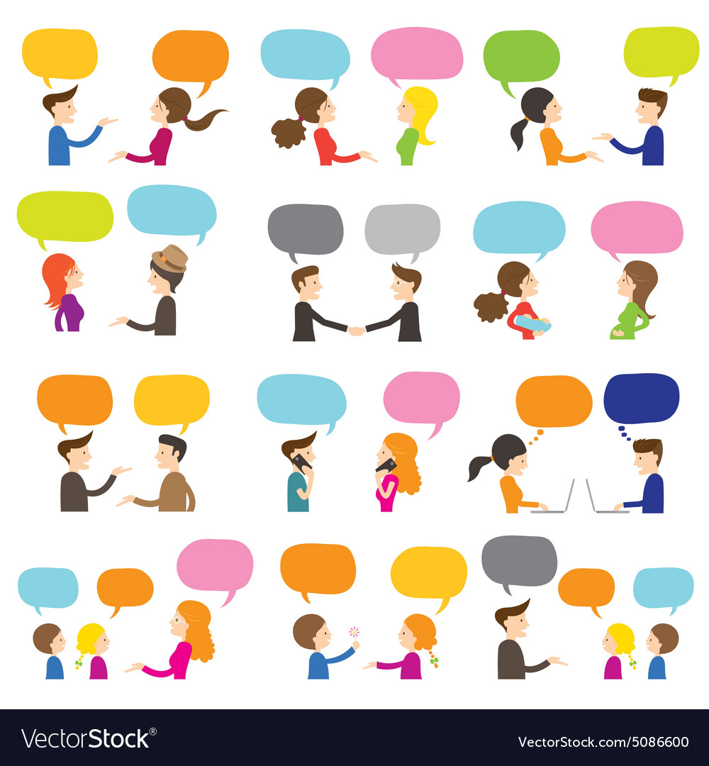 People conversation vector