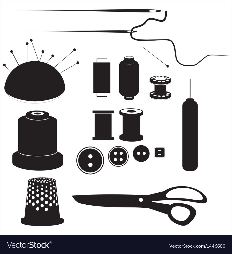 Sewing equipment vector