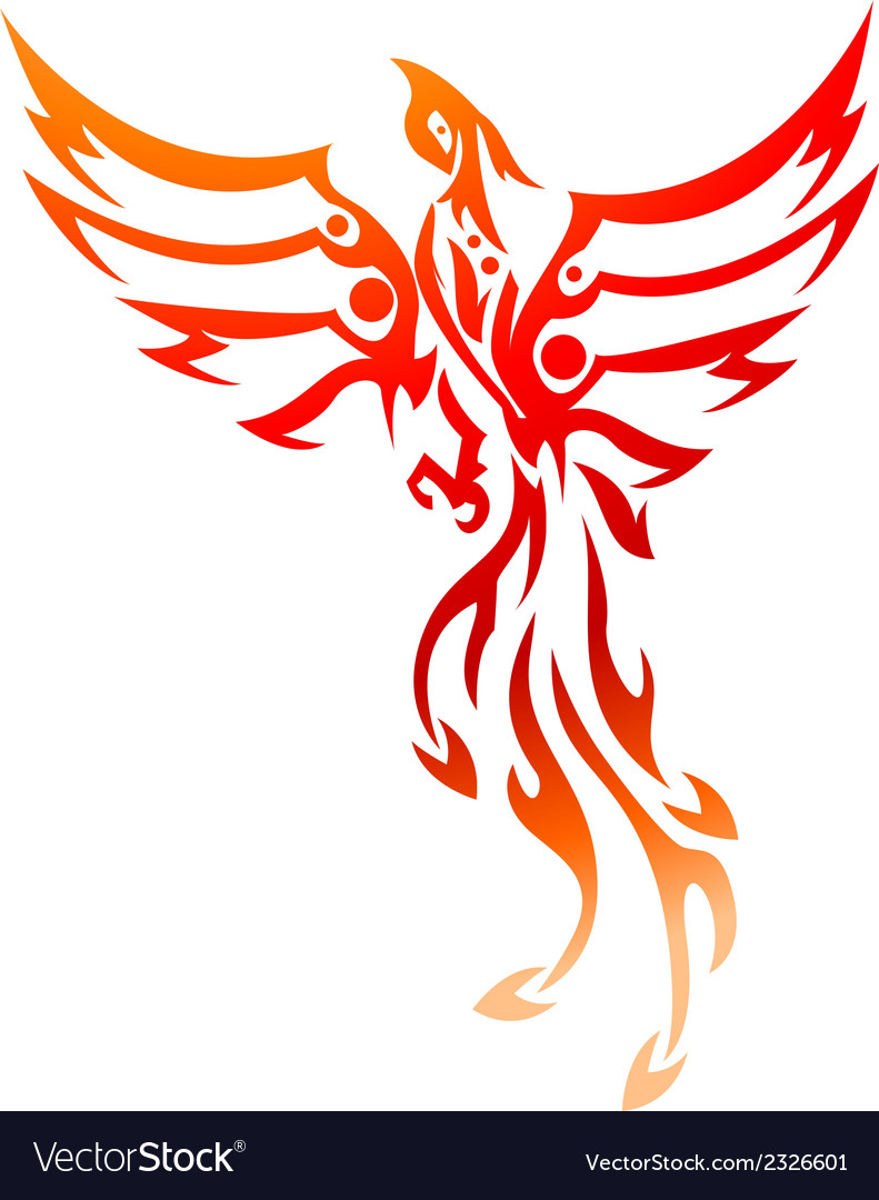 Phoenix tattoo tribal vector
