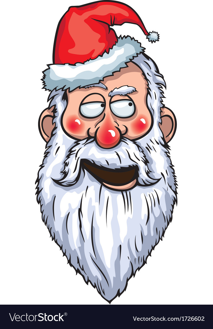 Santa claus flirting head vector