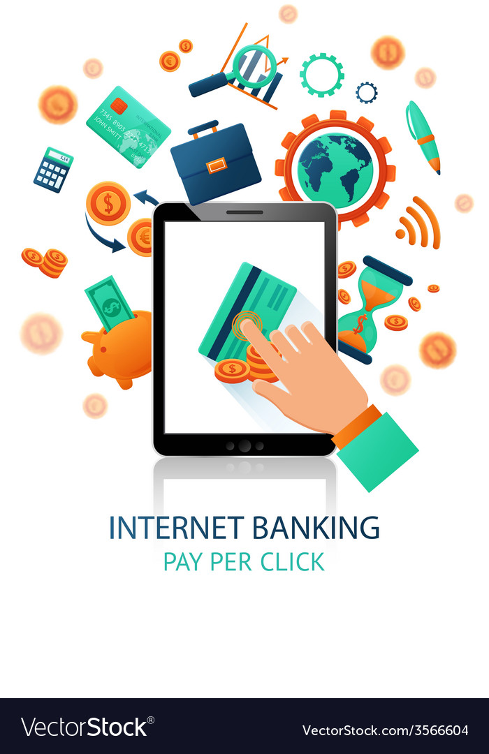 Internet banking application vector