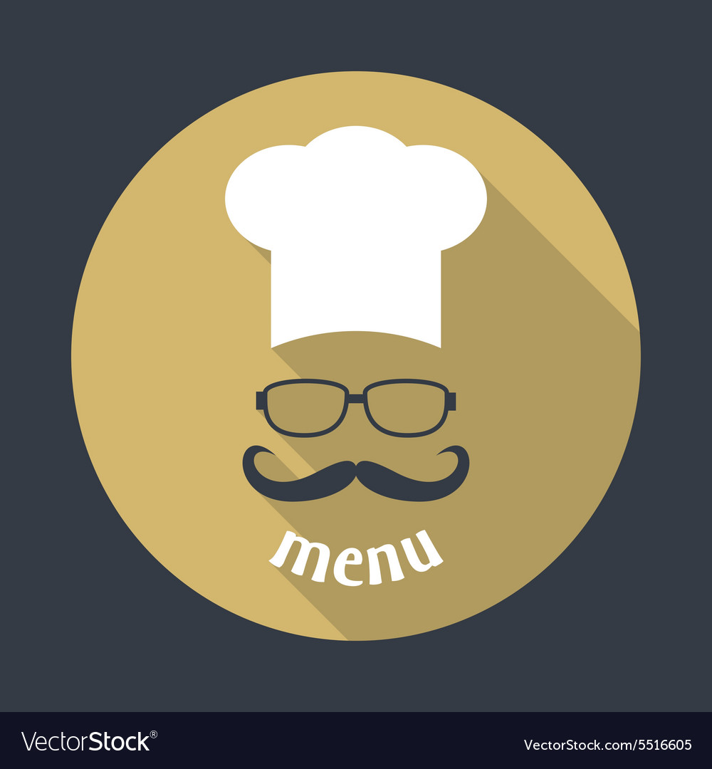Hipster chef vector