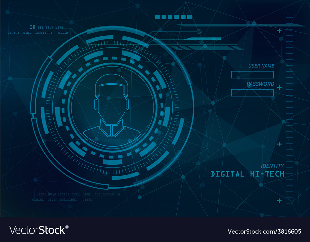 Identity technology background vector