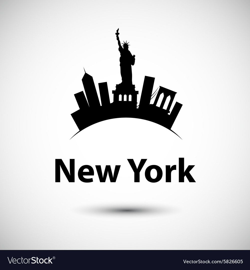 Silhouette of new york usa vector