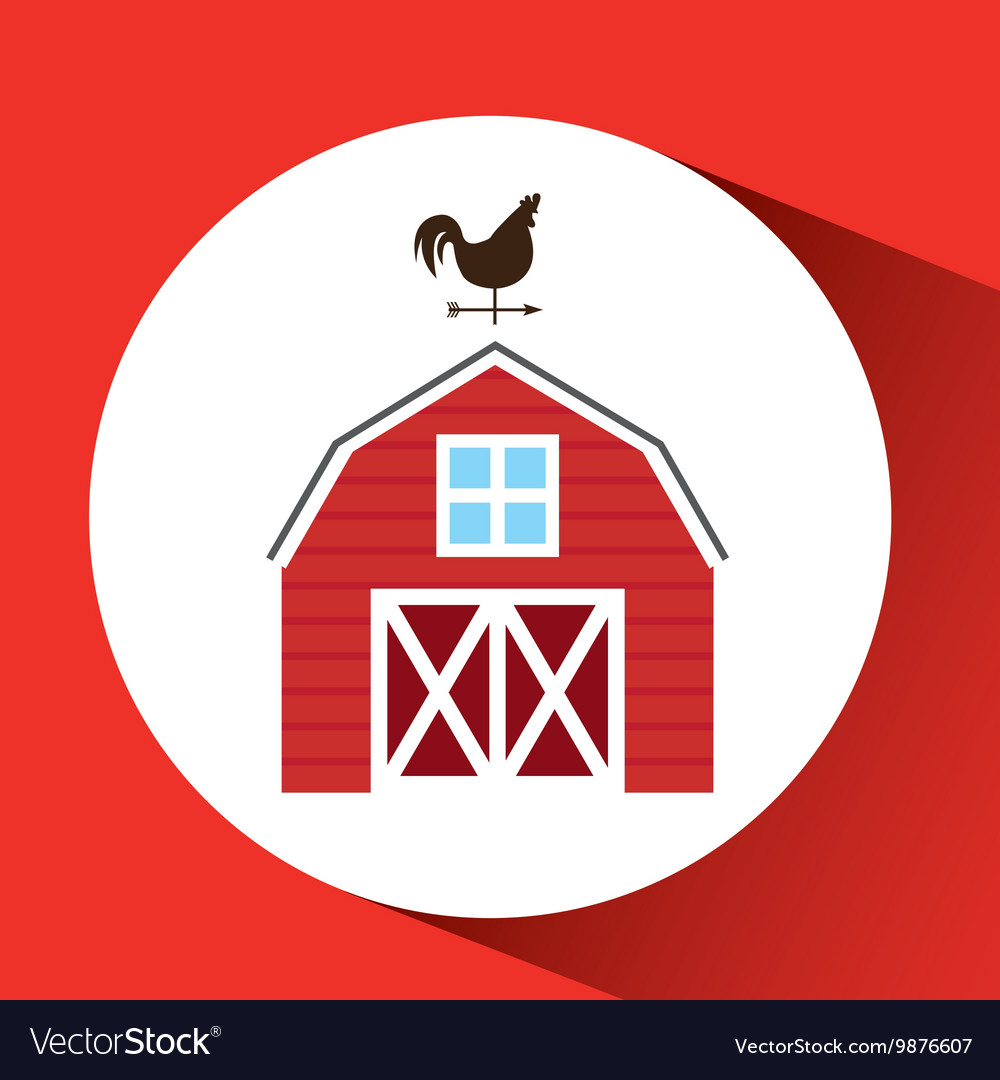 Farm countryside house home farmhouse design vector