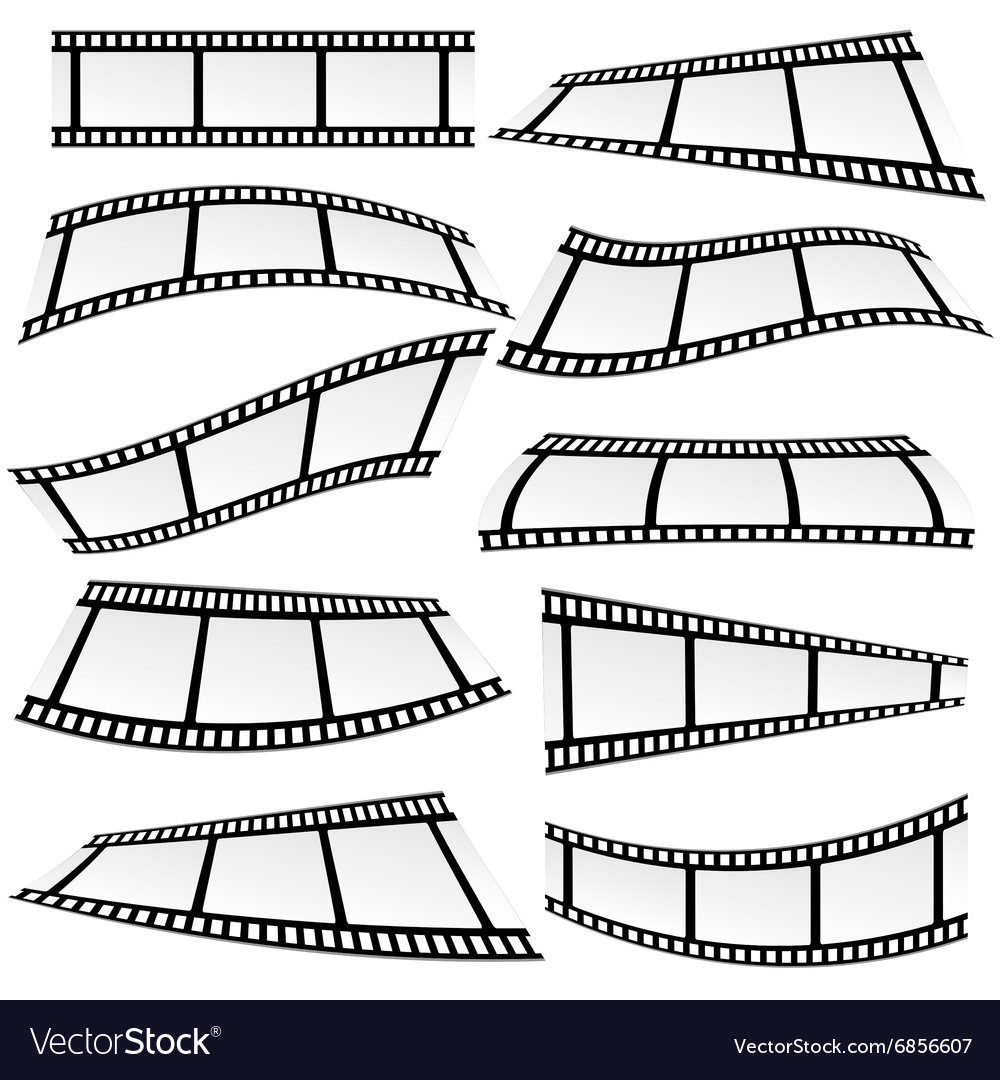 Film tape set roll vector