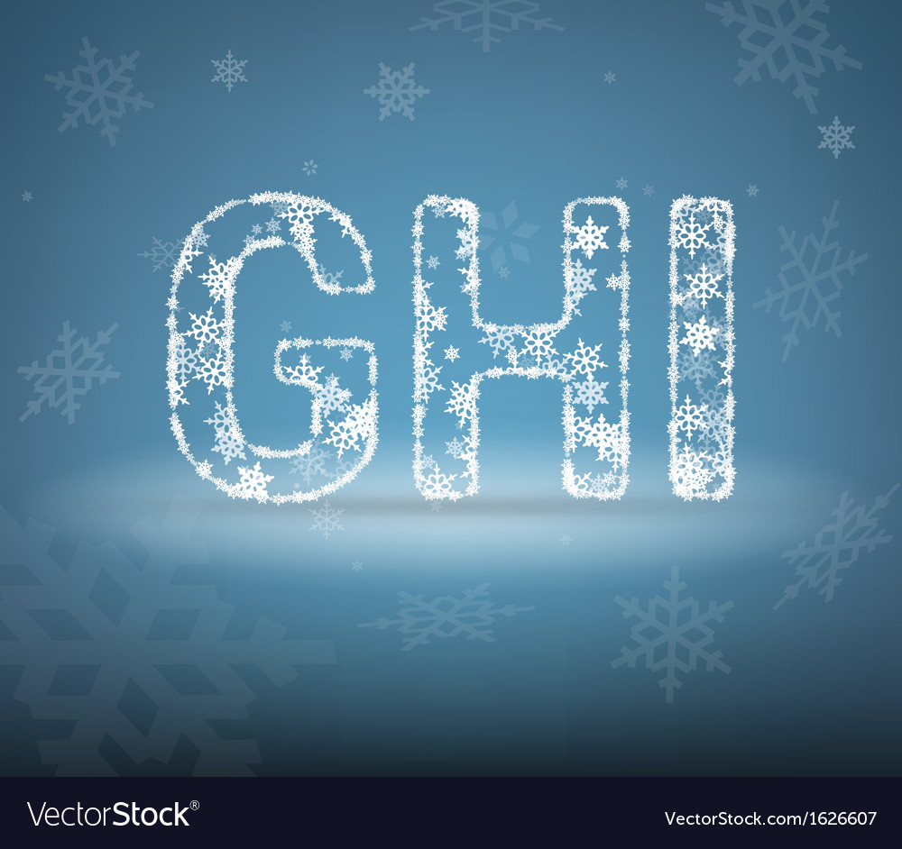 Letters made from snowflakes vector