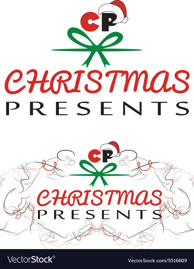 Christmas presents logo vector