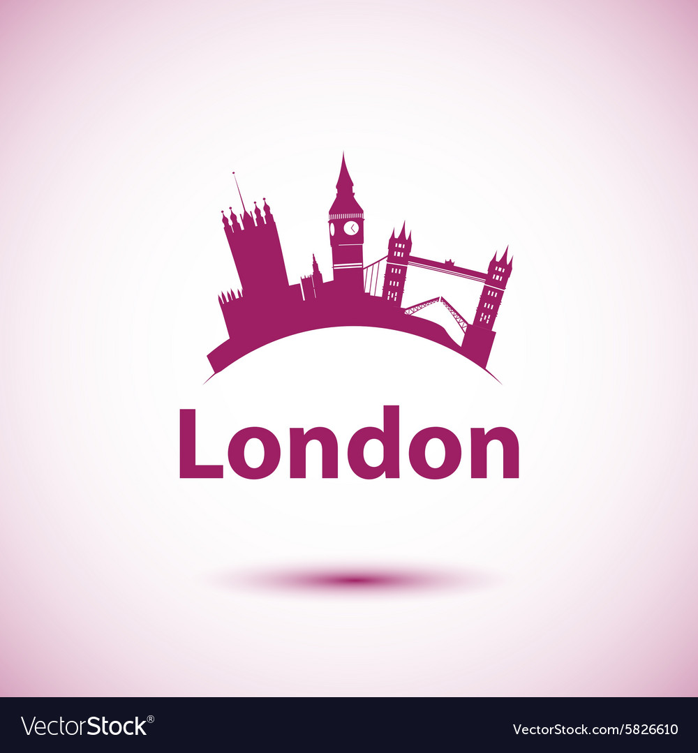 Silhouette of london uk vector
