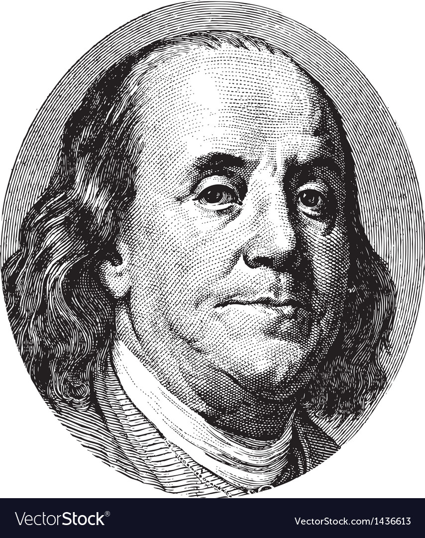 Franklin portrait vector
