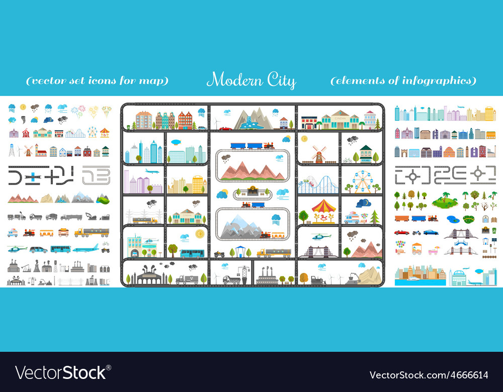 Elements of modern city  stock vector