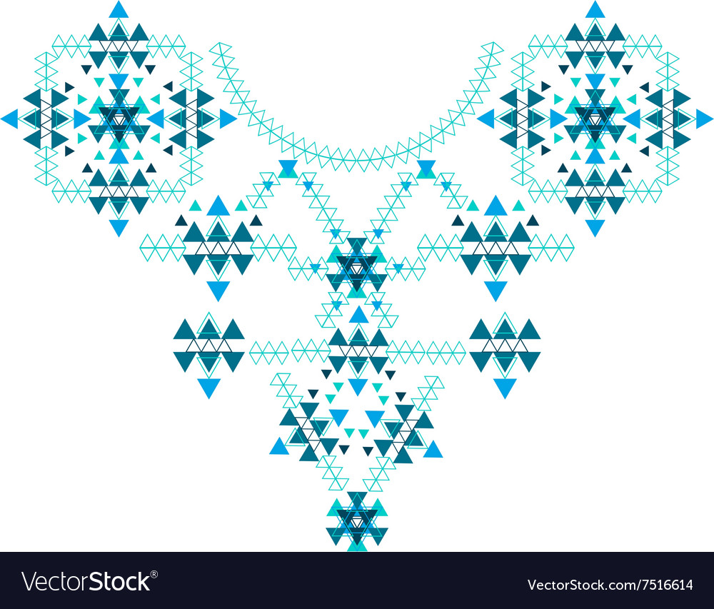 Ethnic colorful neck embroidery isolated on white vector