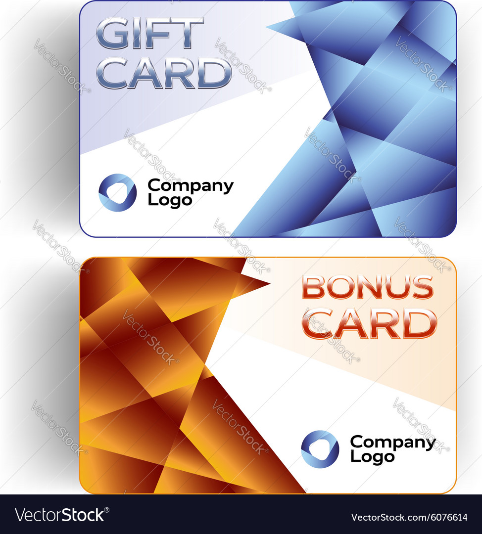 Plastic gift and bonus cards vector