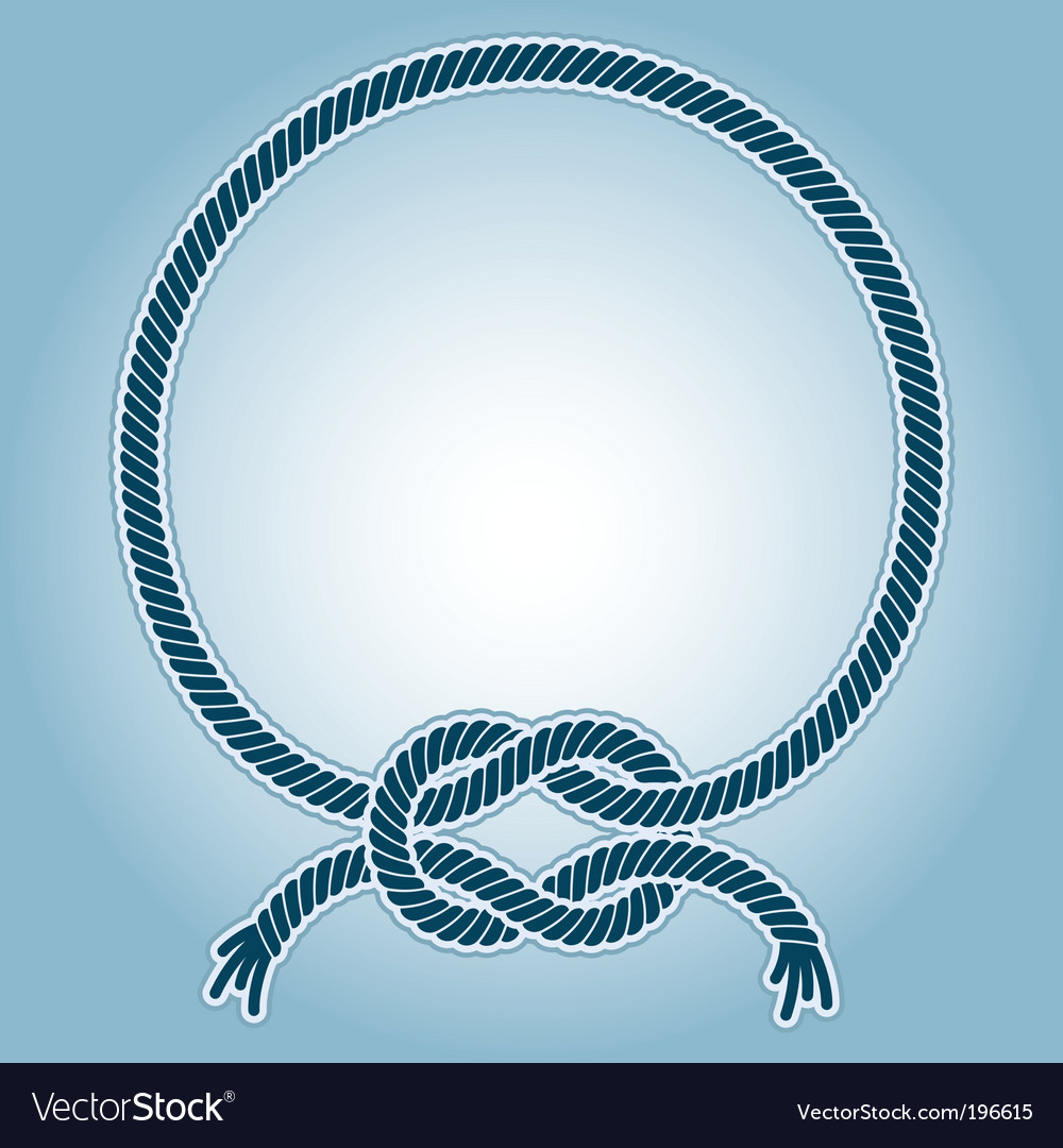 Sea knot ring vector