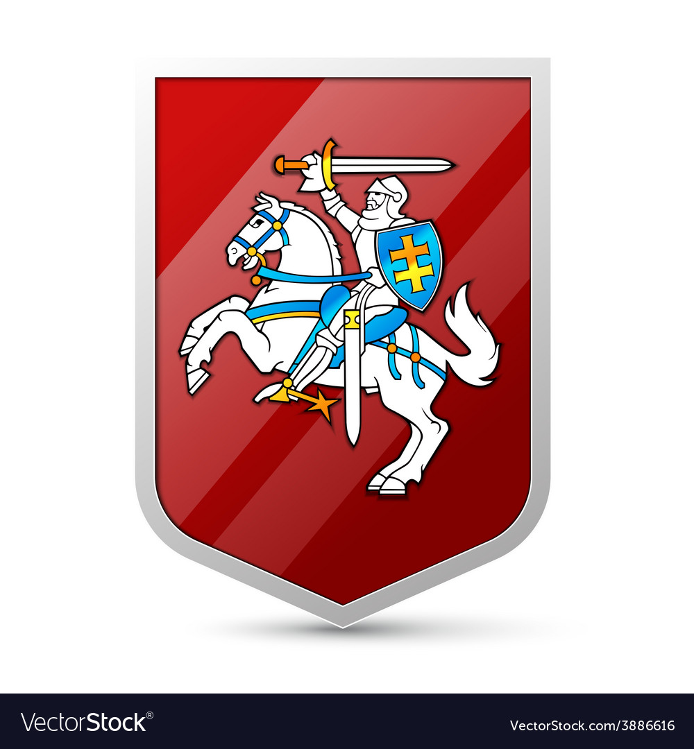 Coat of arms of lithuania vector