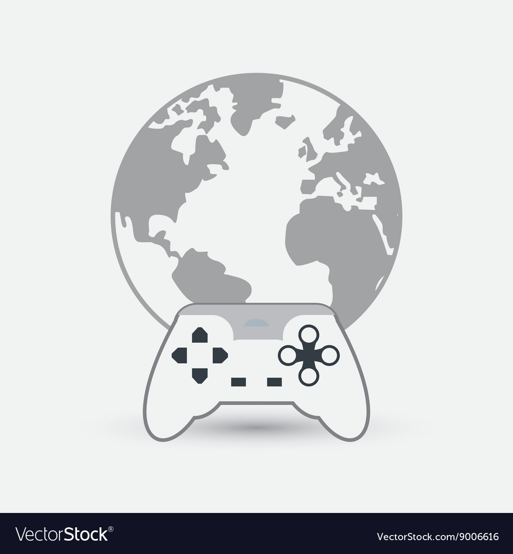 Game design technology icon isolated vector