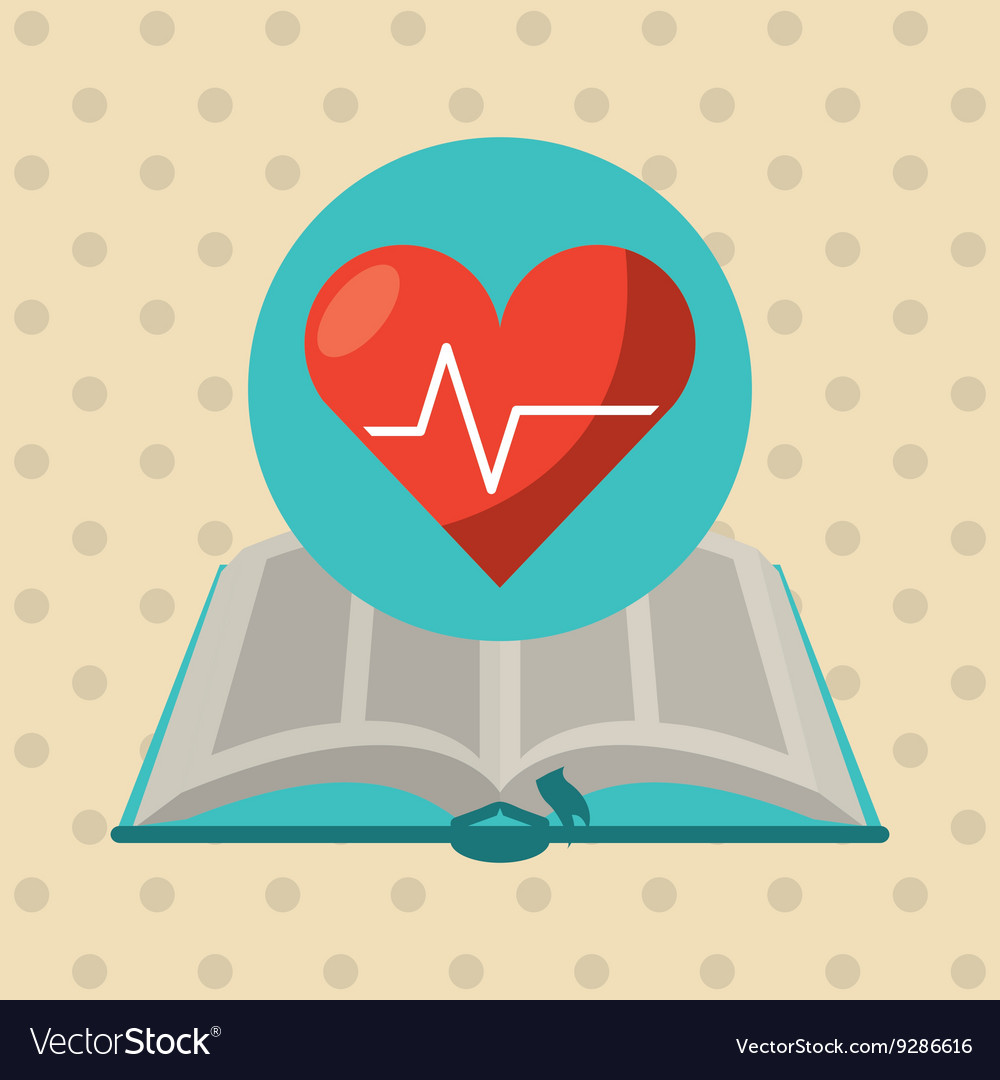 Medical book design vector
