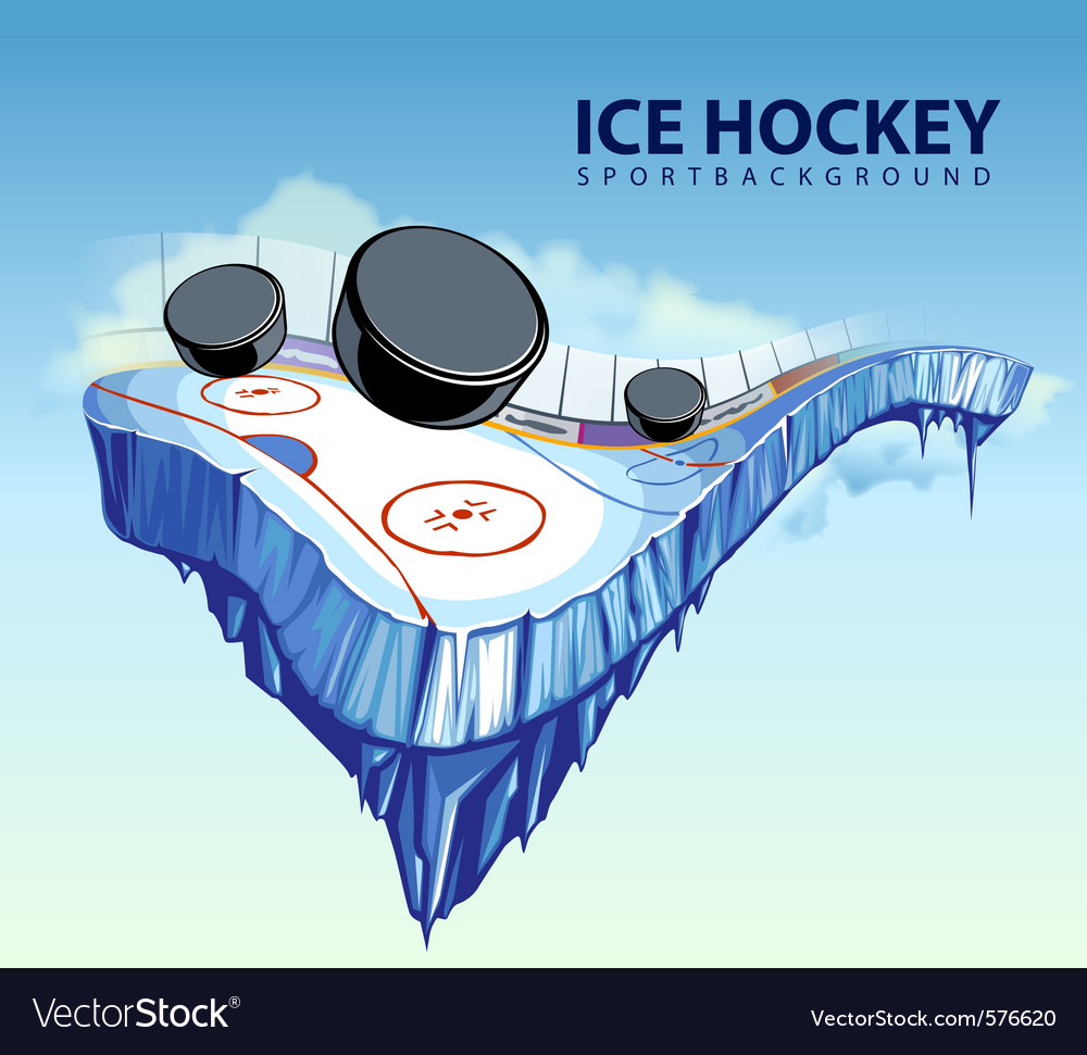 Hockey rink vector