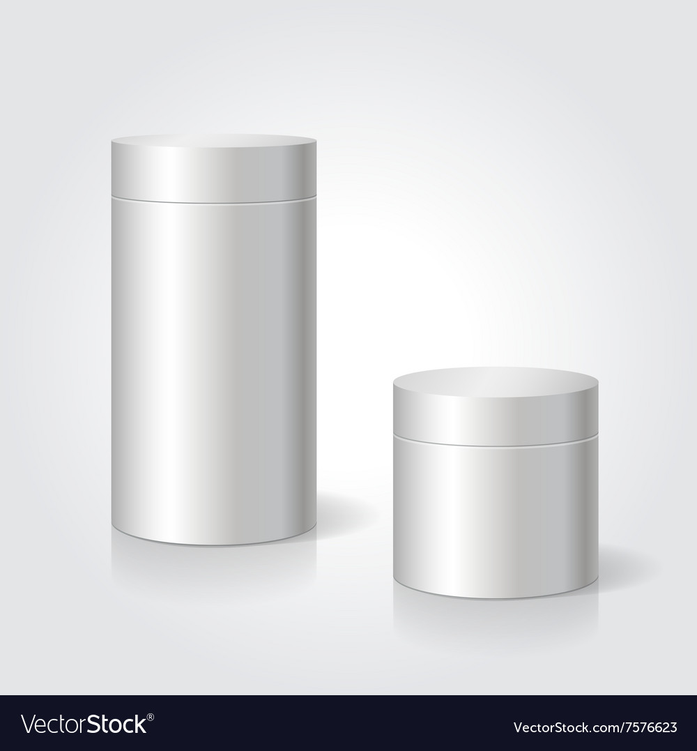 Realistic blank white package box mock up to vector