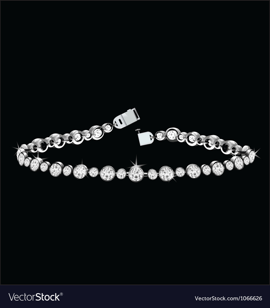 Diamond bracelet vector