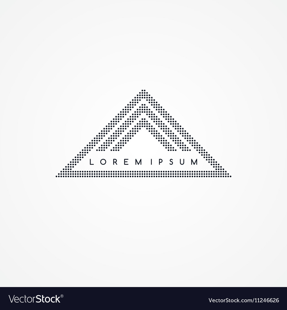 Three side triangle theme dot logotype vector