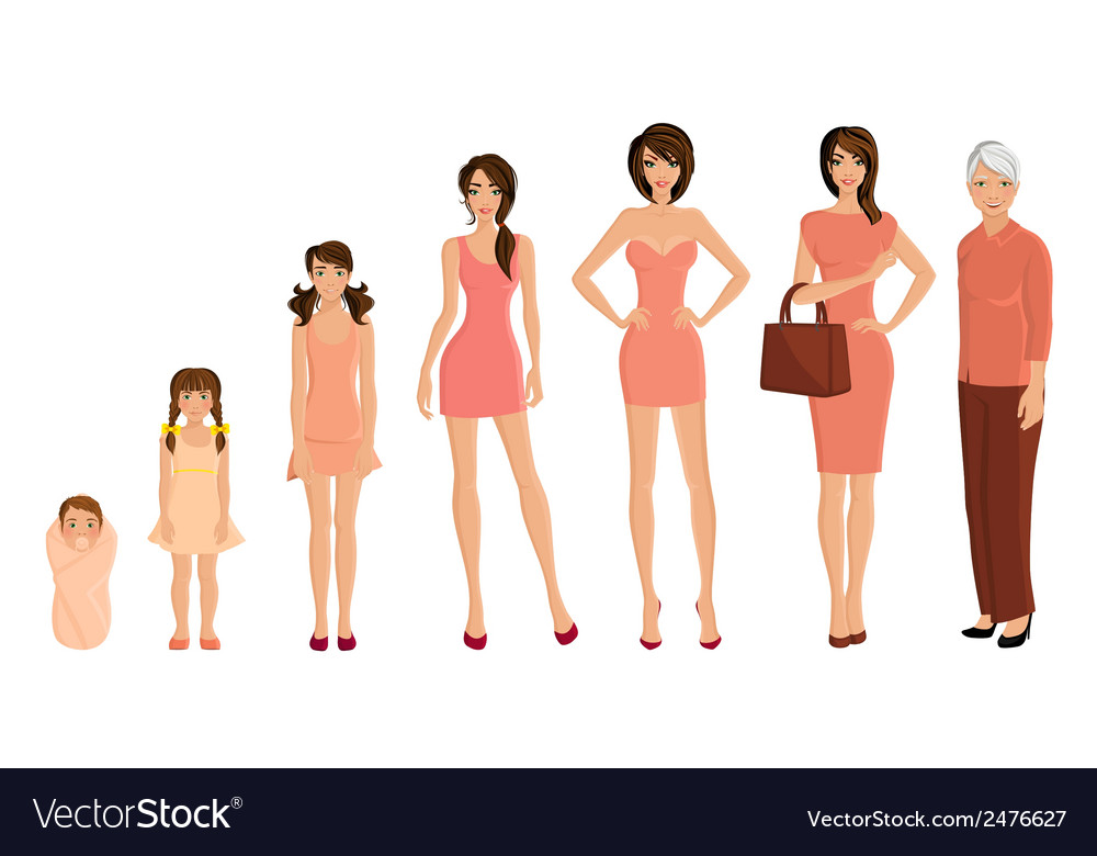 Generation woman set vector