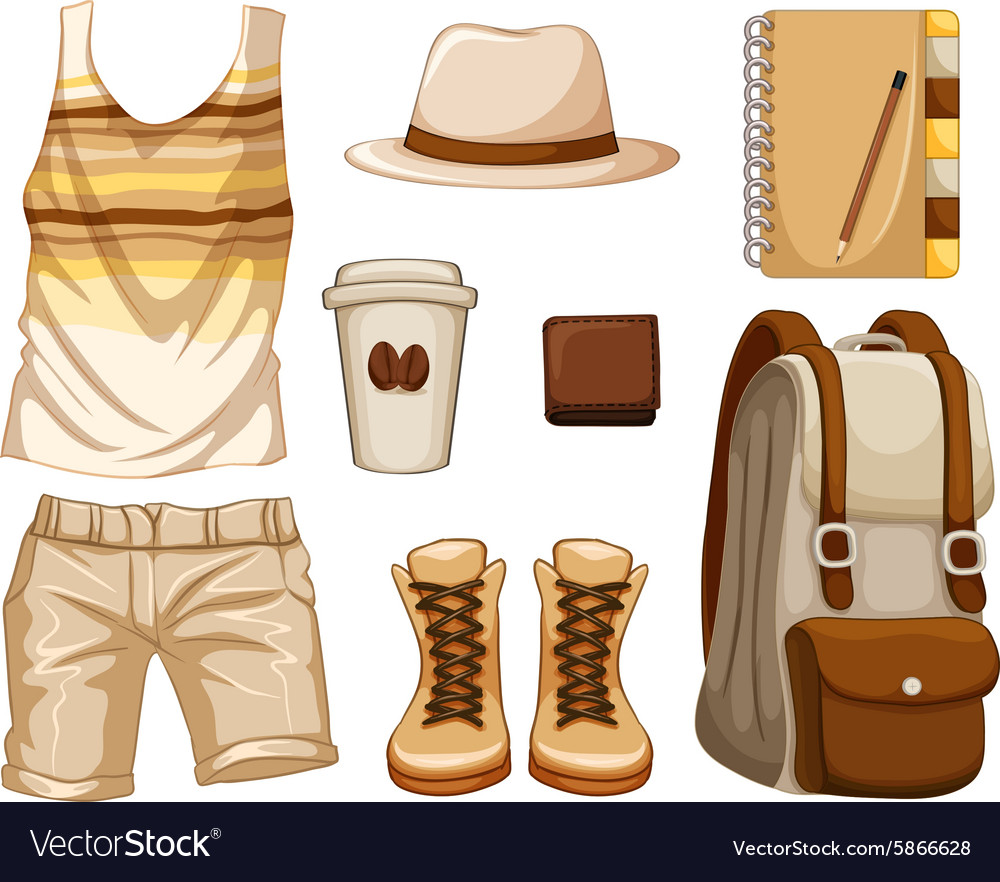 Accessories for hipster boy vector