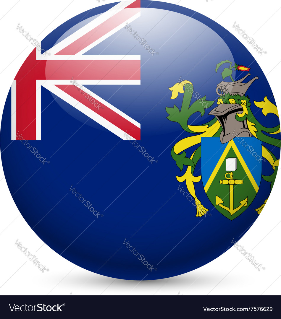 A badge in colours of pitcairn islands flag vector