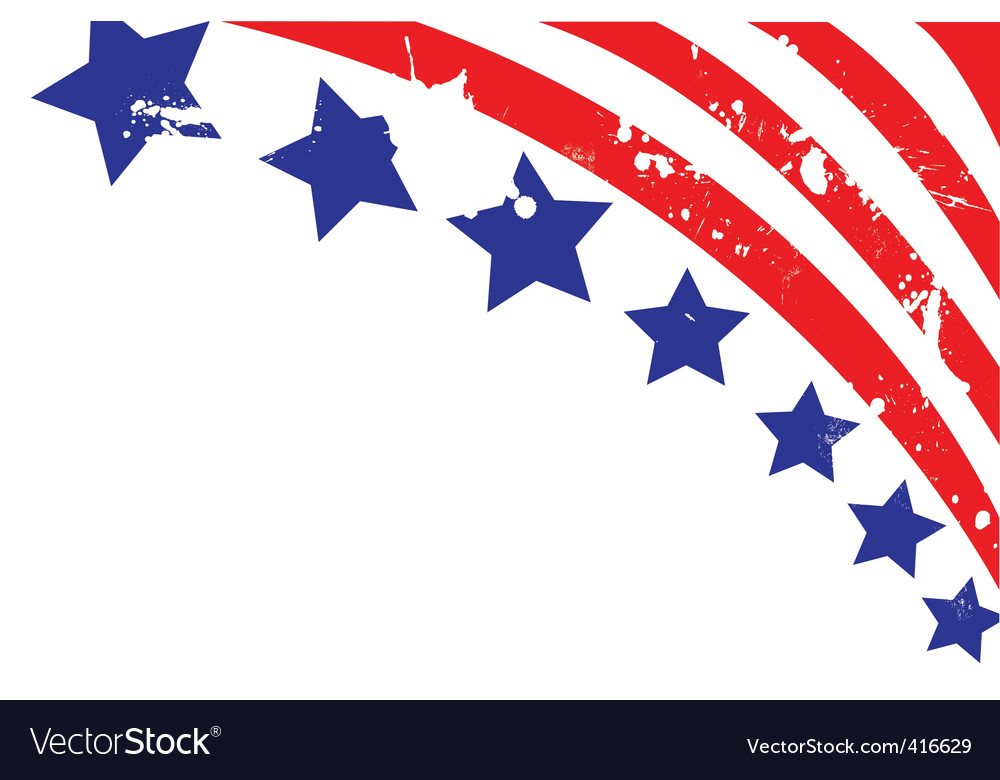 American flag elements vector