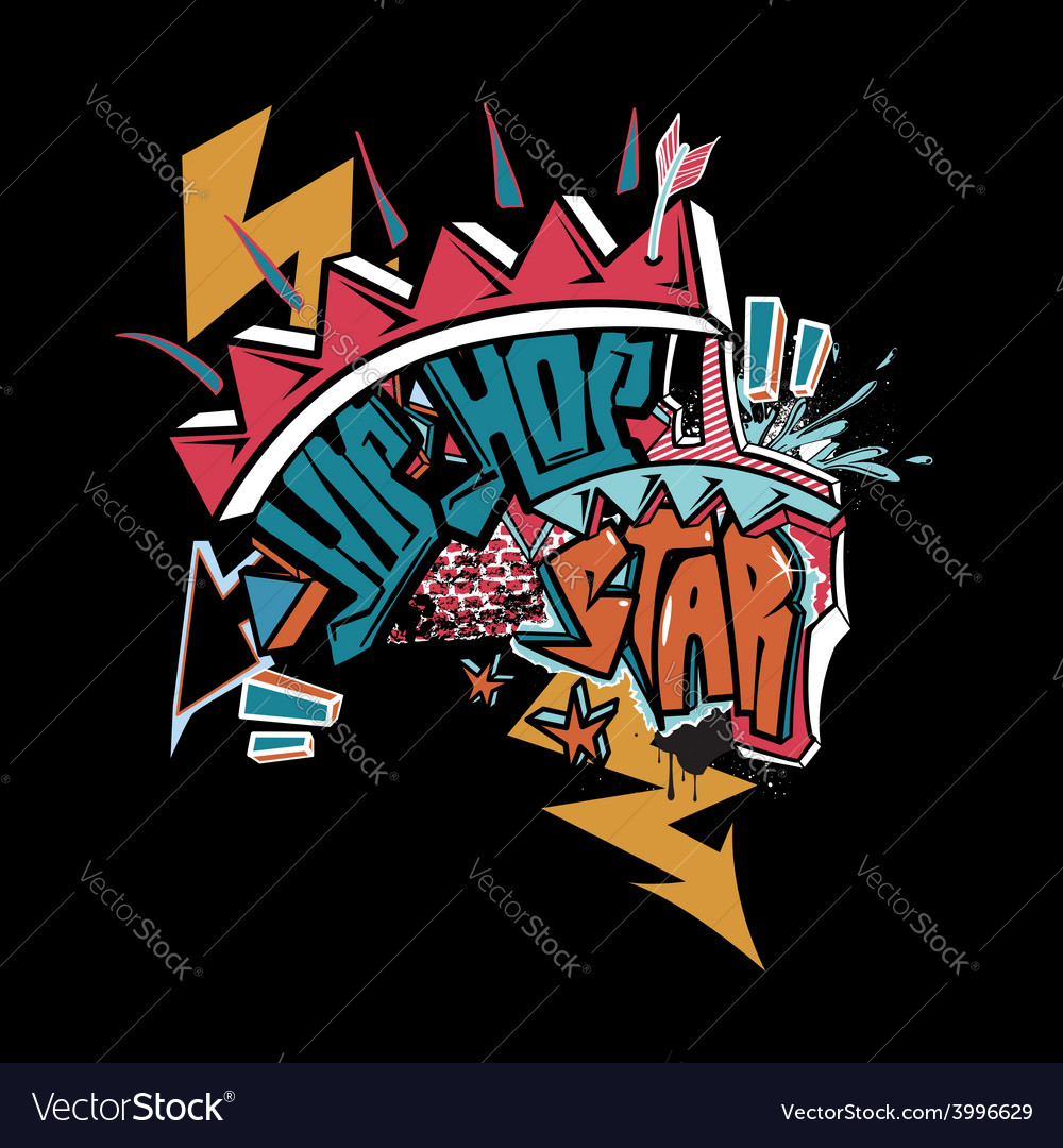 Hip hop graffiti vector